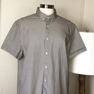Kenneth Cole Reaction Casual Short Sleeve Shirt  L